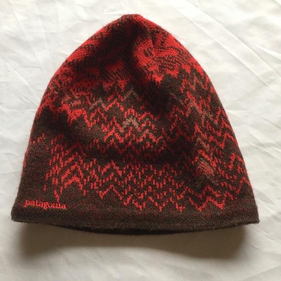 Patagonia Wool Acrylic Fleece Lined Beanie Hat d9c72878dd3e